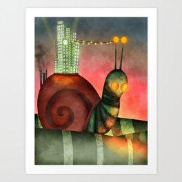 Crawling City   Art Print