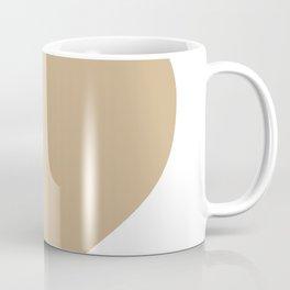 Heart (Tan & White) Coffee Mug