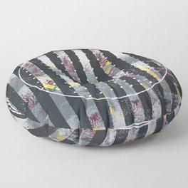 Polarized - dot circle graphic Floor Pillow