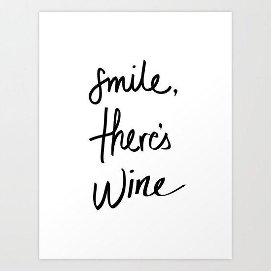 Smile - Wine Art Print