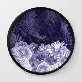 Dark Shades Of Lavender Wall Clock