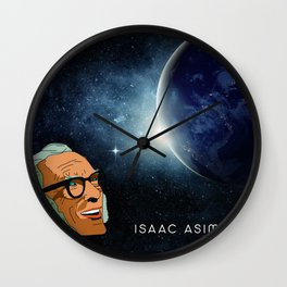Isaac Asimov Portrait Wall Clock