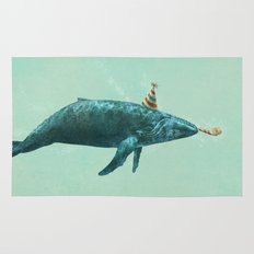 Party Whale - colour option  Rug