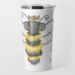 Cute Watercolour Queen Bee Travel Mug