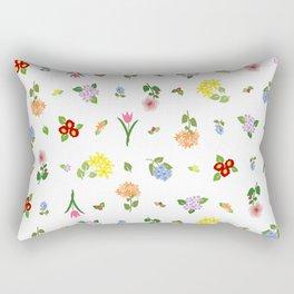 Flourishing Floral Rectangular Pillow