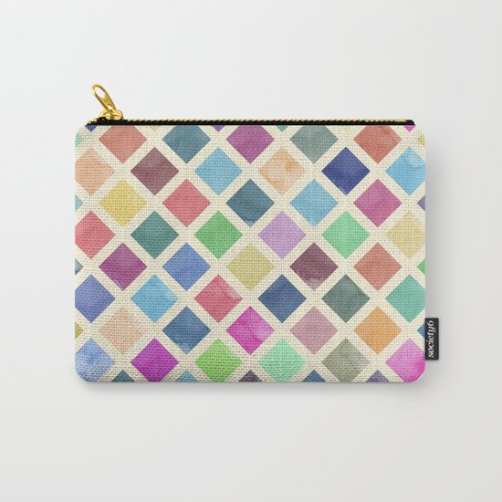 Watercolor geometric pattern Carry-All Pouch