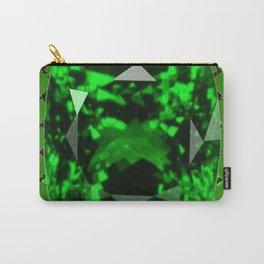EMERALD GREEN MAY GEM BIRTHSTONE MODERN ART DESIGN Carry-All Pouch