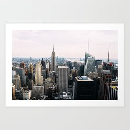 New York skyline from Top of the Rock Art Print