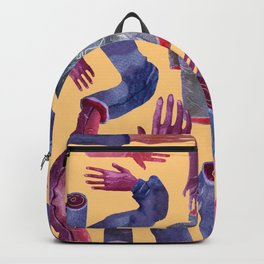 yellow hands Backpack