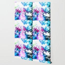 Hot Pink Blue Bokeh Flowers Wallpaper