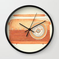 radio Wall Clocks featuring Radio Silence by One Curious Chip