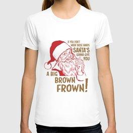 Secret Santa Brown Frown T-shirt