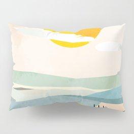 Tuscany italy landscape abstract art Pillow Sham