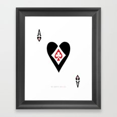 heart, club, spade and diamond negative space  design Framed Art Print