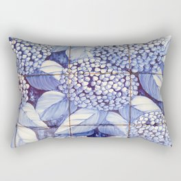 Floral tiles Rectangular Pillow