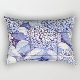 Floral tiles Rectangular Pillow