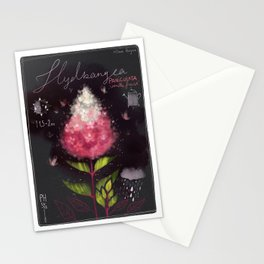 "Botanical illustration ""Hydrangea Paniculata"" Stationery Cards"