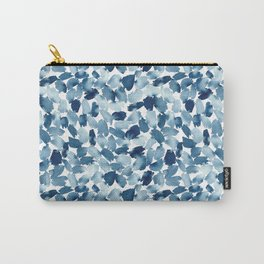 Blue Abstract Watercolor Carry-All Pouch