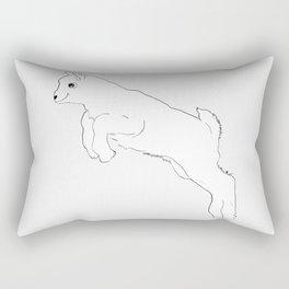 Baby Goat Jumping Rectangular Pillow