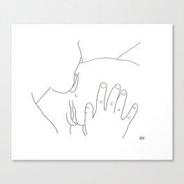 SY_draws 'trEAT a girl right' Canvas Print