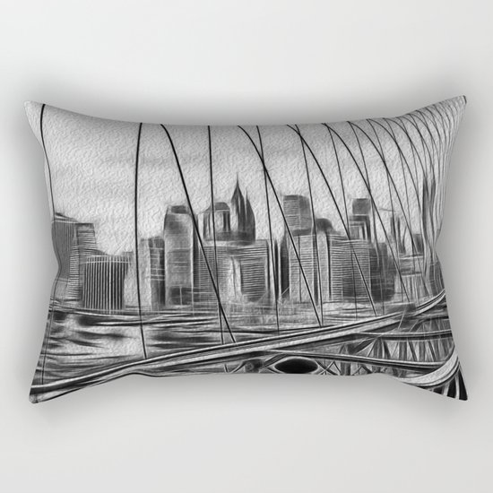 Manhattan NY Rectangular Pillow