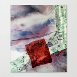 Carré rouge Canvas Print