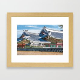 The Queen's Main Residence_Gyeongbokgung Palace Framed Art Print