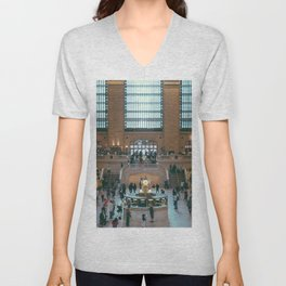 The Amazing Grand Central Station II Unisex V-Neck