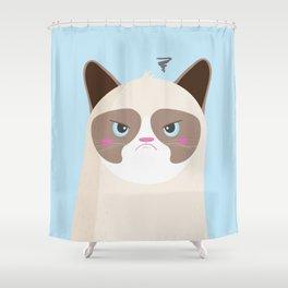 Grumpy Cat Shower Curtain