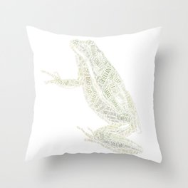 My Spirit Animal is a Frog Throw Pillow