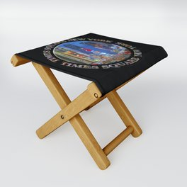 Times Square Broadway New York Badge Emblem (on black) Folding Stool