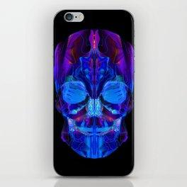 Neon Skull iPhone Skin