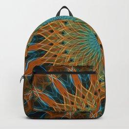 Orange and blue mandala Backpack