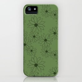 Sage Green Floral  iPhone Case