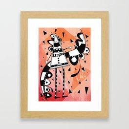 Sir Color Triangle Framed Art Print