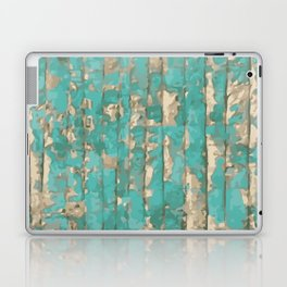 Gold and Blue abstract art Laptop & iPad Skin