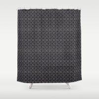 bones Shower Curtains featuring BONES by NIKKISONFIRE