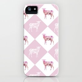 Sheeps - Pink and white iPhone Case