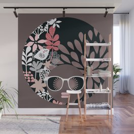 Afro Diva : Sophisticated Lady Pale Pink Peach Taupe Wall Mural