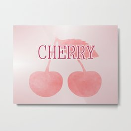 I Love Cherries Metal Print