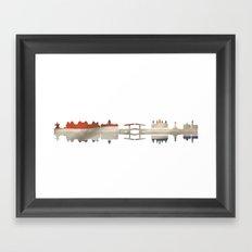 Amsterdam silhouette.  Framed Art Print