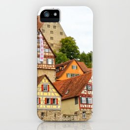 Traditional medieval German houses iPhone Case