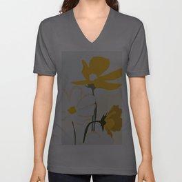 yellow flowers Unisex V-Ausschnitt