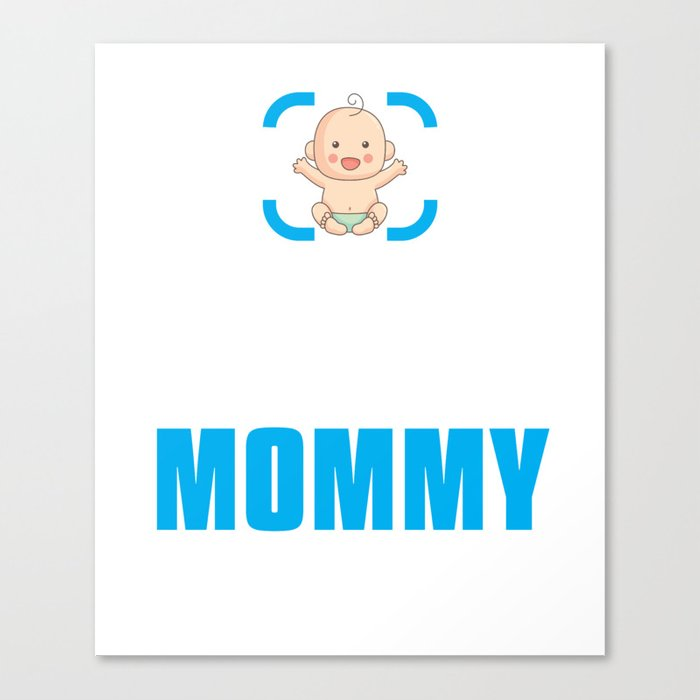 New Mom Gift Achievement Unlocked Mommy Present For First Time Mother Canvas Print