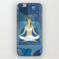 meditation iPhone & iPod Skins featuring Meditation by Anne Was Here
