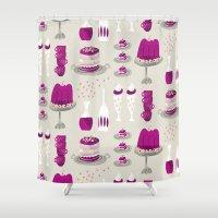 dessert Shower Curtains featuring jelly dessert  by mummysam