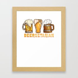 Beergetarian graphic for a Craft Beer Lover Framed Art Print