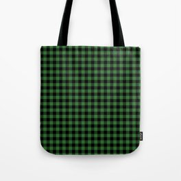 Classic Green Country Cottage Summer Buffalo Plaid Tote Bag