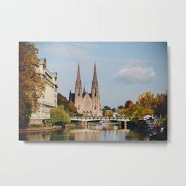 Streets of Strasbourg Metal Print