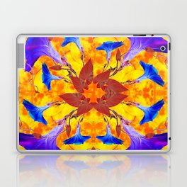 Purple & Gold Floral Design Laptop & iPad Skin